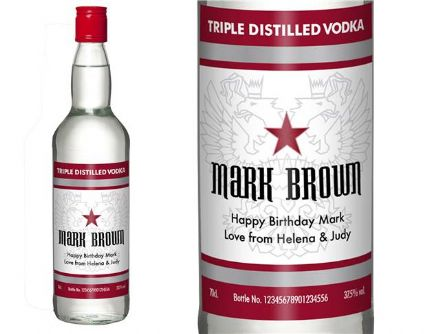 Classic Personalised Vodka